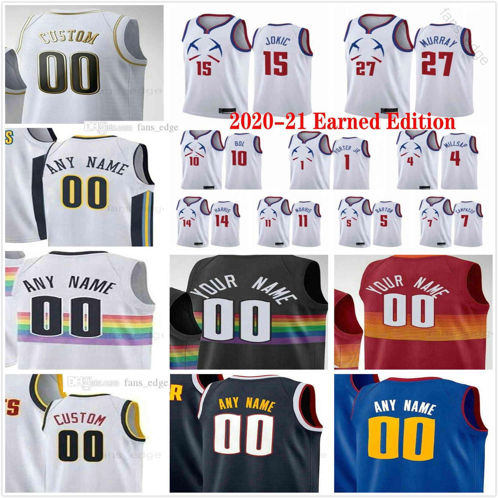 2020-21 Kazanılan Sürüm Baskılı Aaron 50 Gordon 15 Jokic Jamal 27 Murray Nikola 1 Porter Jr. Facundo 7 Campazzo Erkek Kadın Çocuk Gençlik Basketbol Formaları