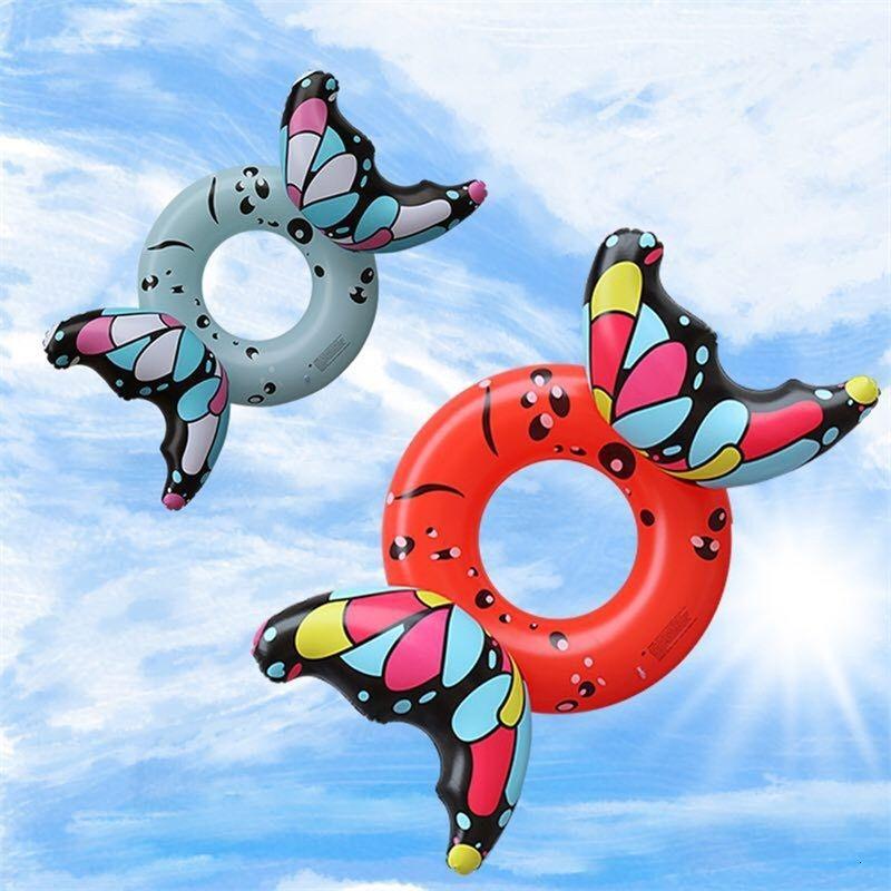 Cartoon farfalla creativo gonfiabile galleggianti adulti rosso ispessimento in PVC Eco amichevole anello nuoto portatile antiusura fabbrica diretta 37HQI1
