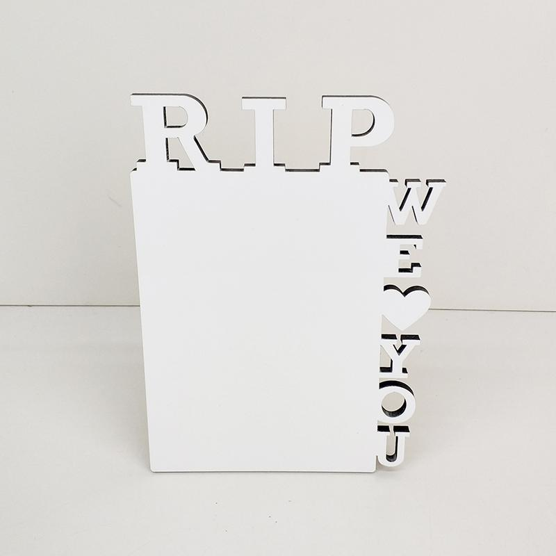 Hölzerne Sublimation Fotorahmen MDF Wärmeübertragung RIP Album Desktop Dekoration Handwerk Ornamente Frames DIY Geschenke