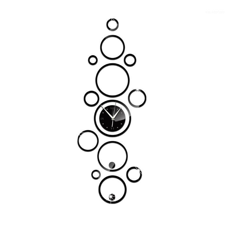 패션 유럽 스타일 미러 아크릴 벽 시계 벽 스티커 원 장식 멀티 피스 세트 거실 쿼츠 시계 1