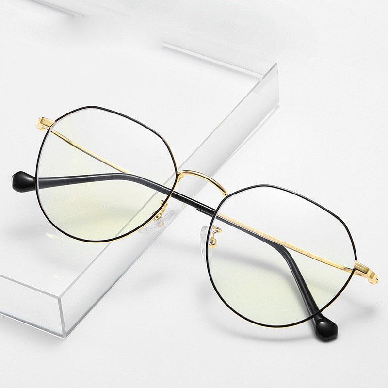안티 푸른 빛 안경 금속 프레임 클리어 렌즈 남성 고글 보호 아가씨 안경 안경 게임 컴퓨터 전화 안경 보호 남성 및 여성 유니섹스 보호