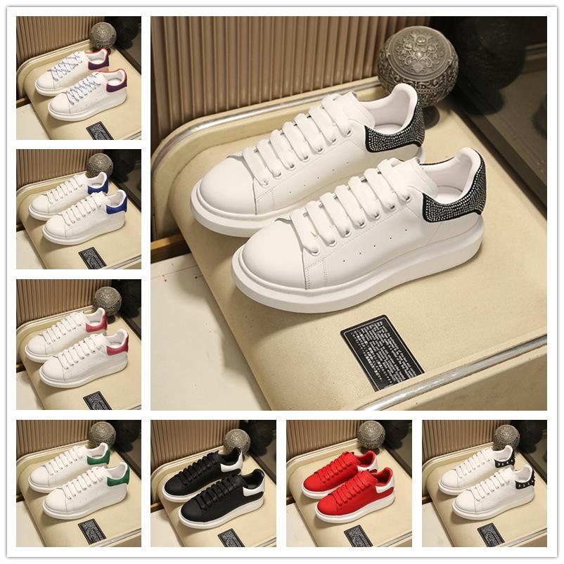 [Original caixa + meias] plataforma de festa sapatos casuais preto veludo couro genuíno sneaker mulheres moda reflexivo branco colorido lisas chaussures