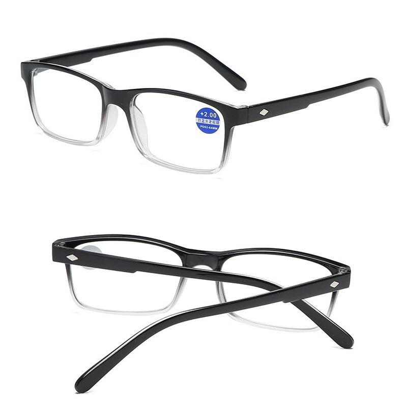 Gafas de lectura de mujeres Presbicia de presbicia para hombres Mujeres Unisex Marco de gradiente Lentes Anti Blue Light 1.0 1.5 2.0 2.5 3.0 3.5 4.0