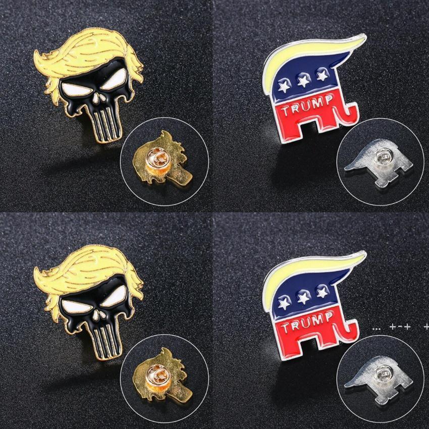 Trump Brooches Forniture per feste Punk Symbol Distintivo America Presidente Elezione Pin Pin Cappotto Giacche Zaino Trump Brooch FWA8602