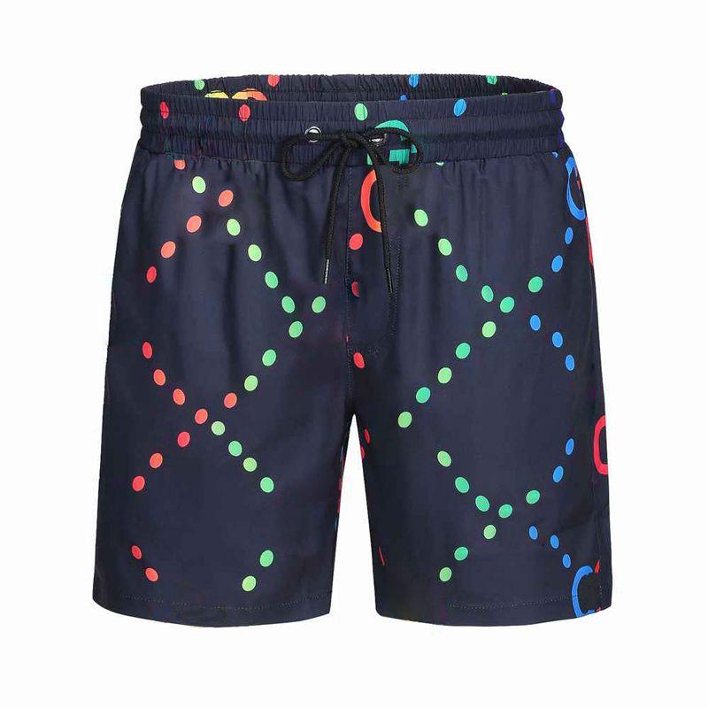 Pantalones cortos para hombre diseñadores de verano deportes casuales moda de secado rápido hombres pantalones de playa en blanco y negro Tamaño asiático M-XXXL QAQ