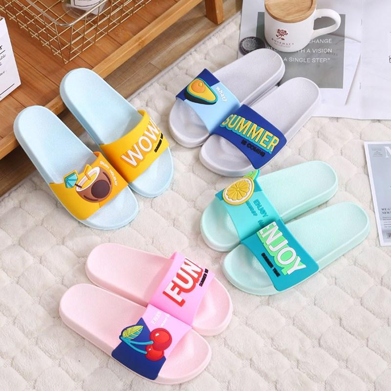 Slippers Women Summer Cute Fruits Beach Slides Watermelon Strawberry Indoor & Outdoor Sandals Shoes T077