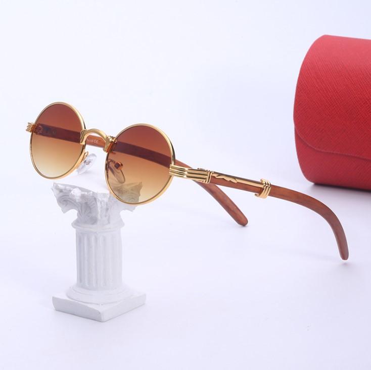 Yaz Güneş Gözlüğü Adam Kadın Unisex Moda Gözlük Retro Yuvarlak Çerçeve Tasarım UV400 5 Renk İsteğe Bağlı