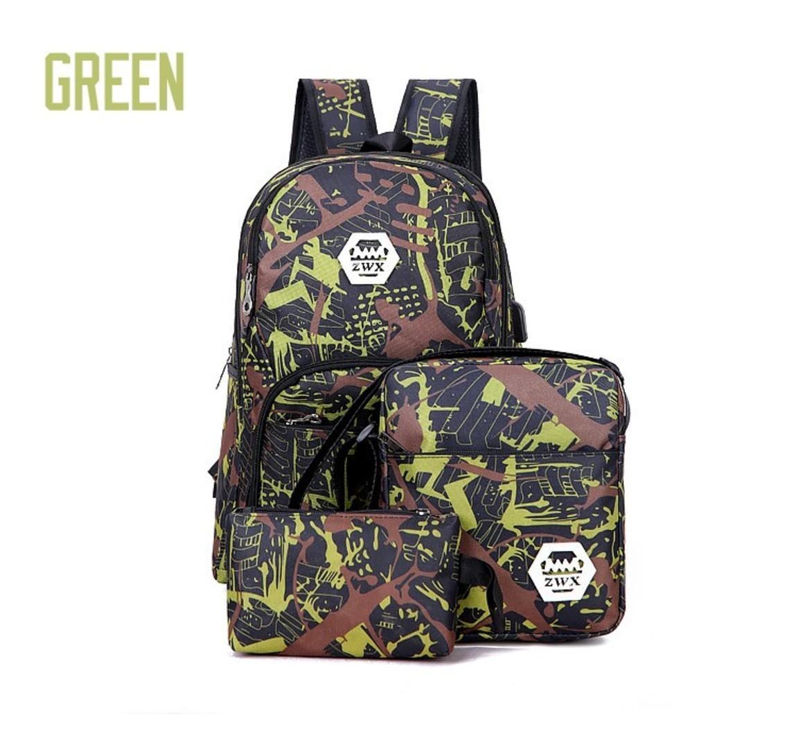 2022 Keiner Outdoor-Taschen Camouflage Reiserucksack Computertasche Oxford Bremskette Mittelschule Student Bag viele Mix