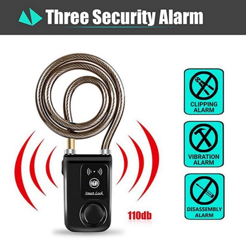 Robo Protection Smart Bluetooth Alarma Lock Anti Intelligent Phone App Control Impermeable para la seguridad de la seguridad de la motocicleta de la bicicleta