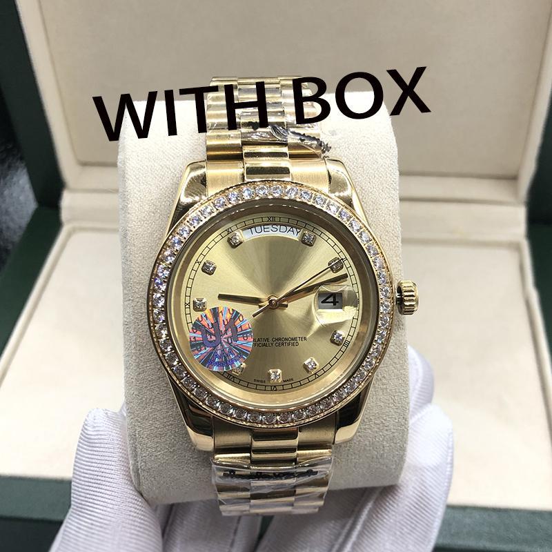 U1_DROPSHIPPING-U1 Kalite Erkek Montre De Luxe Otomatik Mekanik İzle Elmas Saatler 36/41mm Paslanmaz Çelik Saatı Su Geçirmez Aydınlık Kadın Saatler