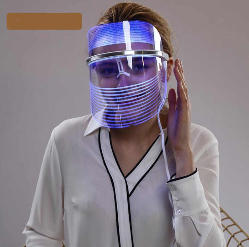 3 Colors Photon Facial Mask Skin Rejuvenation LED Light Therapy anti-aging acne Beauty machine j38
