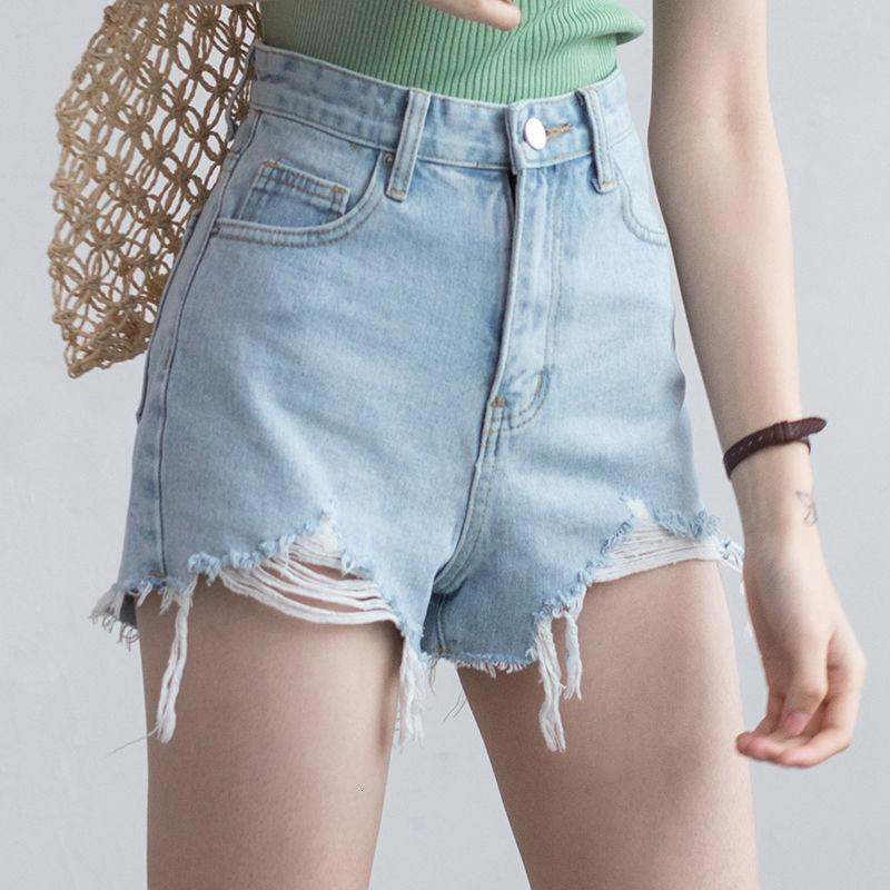 Summer Street HLE Blanco Casual Damas Cintura alta Slid Clr Pierna ancha Jeans Black Shrts