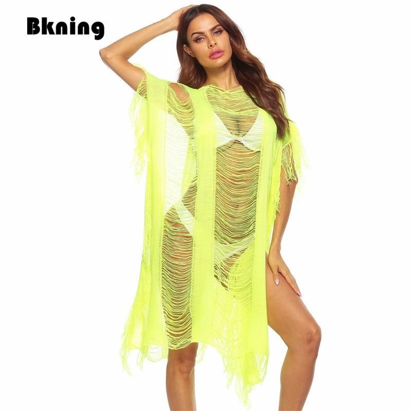 Nueva playa cubierta de mujer vestido 2021 traje de baño cubiertas para trajes de baño vestidos de playa mujer sexy túnica stands sweat ups pareo 210319