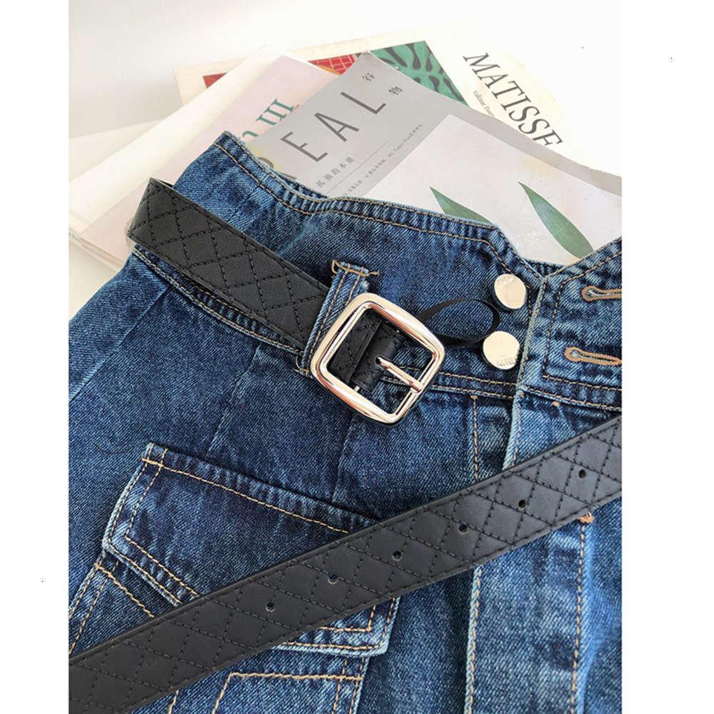 Аксессуары неффорированные металлические широкие простые брюки кольца пряжка черного пояса женские модные джинсы мужские