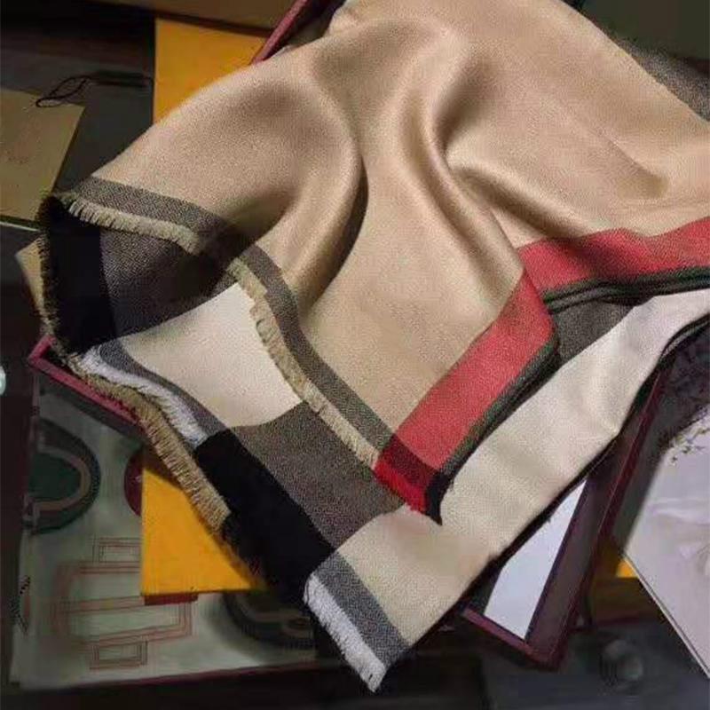 2021 Cashmere Bufanda Classic British Plaid Cotton Ladies Alta Calidad Mujeres Para Mujeres Otoño e Invierno Shawal Dual