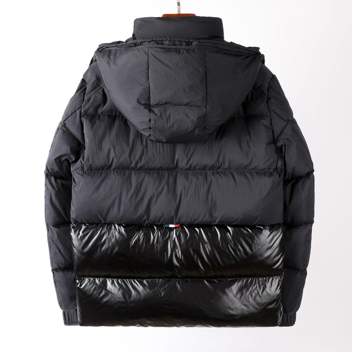 럭셔리 프랑스 망 다운 재킷 편지 Monclair 로고 니트 여성 파카 패널 캐주얼 코트 폭격기 재킷 디자이너 남자 s 의류 002