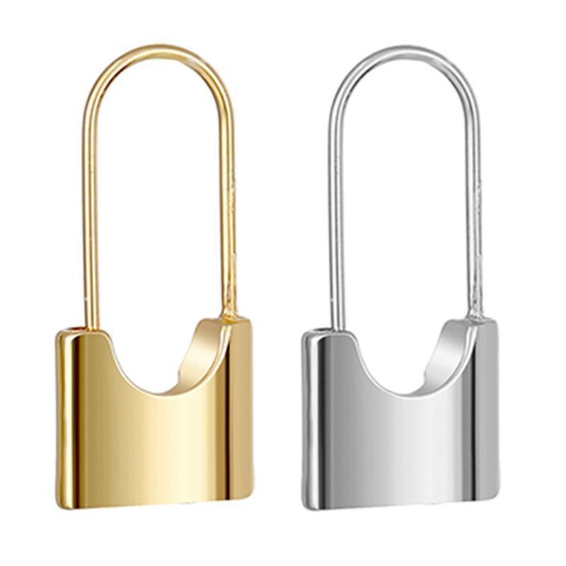 Hoop Huggie Уникальный дизайн Золотой Замок Серьги для Женщин Небольшое Безопасность ПИН МИНИМАЛЬНЫЕ ЮВЕТИИ
