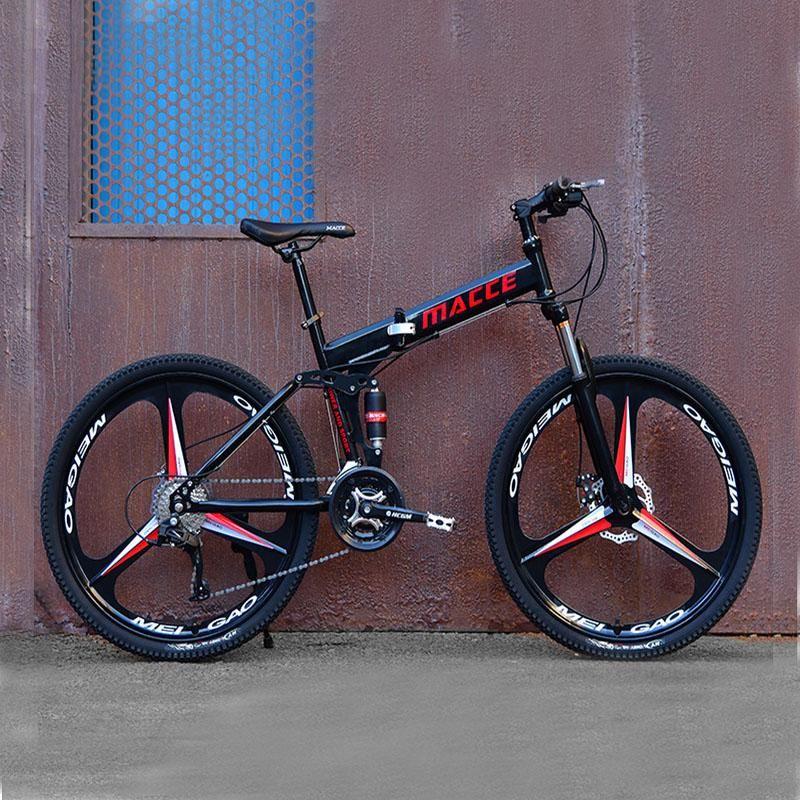 24-дюймовый складной горный велосипед 21speed двойное поглощение внедорожного переменной скорости Ultimate взрослых студентов одноколесные велосипеды велосипедов