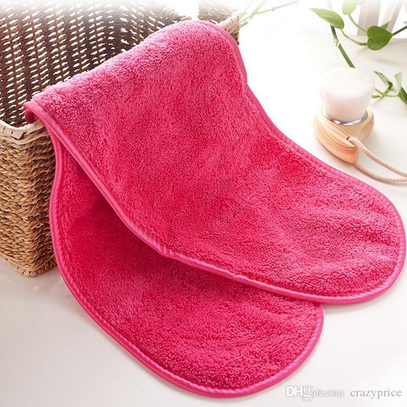 Mikrofiber Havlu Kadınlar Makyaj Remover Kullanımlık Makyaj Havlu Yüz Temizleme Bezi Güzellik Temizlik Aksesuarları Toptan Ücretsiz Teslimat WLL733
