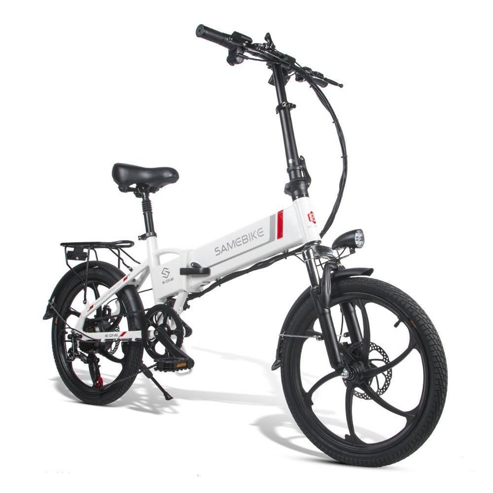 Samebike 20LVXD30 Портативный складной Smart Electric Moped Bike 350W Мотор Max 35 км / ч 20 дюймов шин - белый