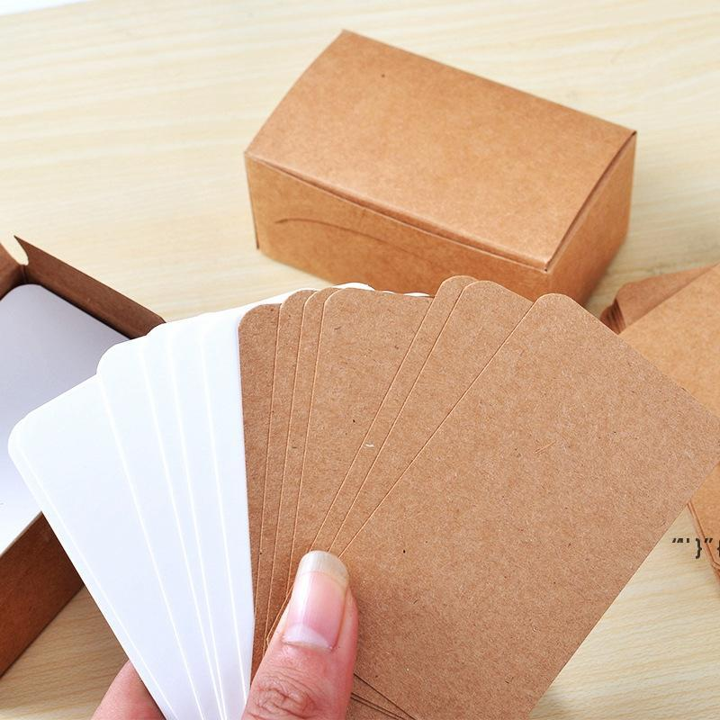 100pcs Vintage Blank Card DIY Greeting Paper Thick Gift Wedding Postcards Cards Kraft Word Party Cards Graffiti1 OWA4942