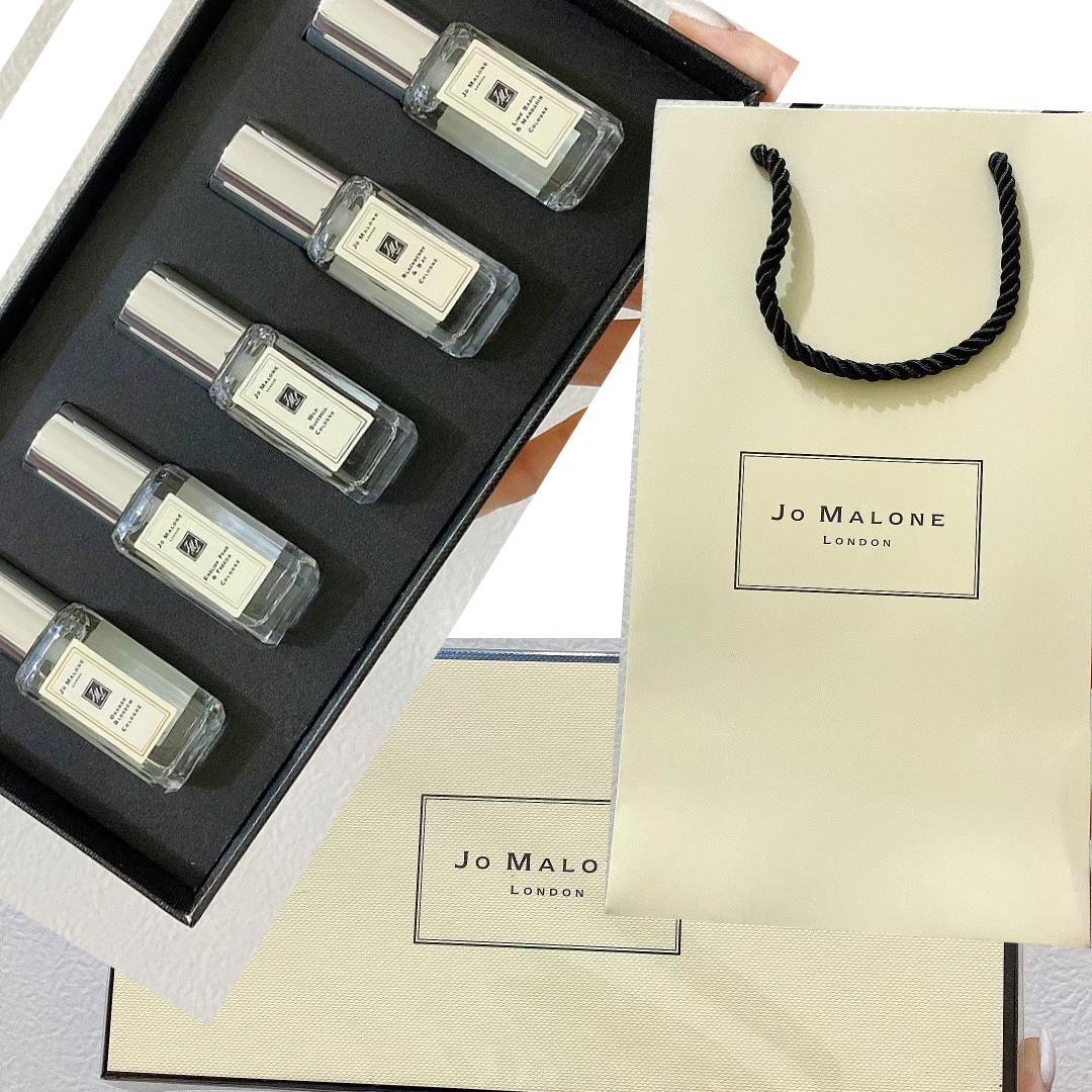 핸드백과 플라스틱 봉인 된 + 품질! 6pcs / set 조 말론 런던 9ml * 6pieces 향수 향수 세트 오래 지속되는 높은 파괴 무료 배송