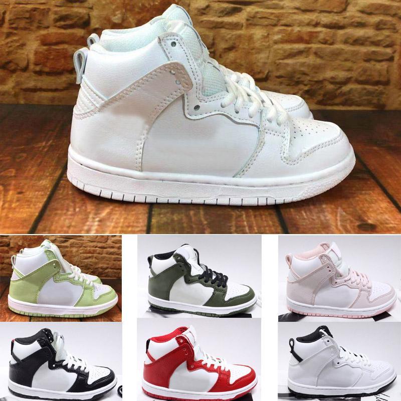 Çocuk Dunk SB Yüksek Premium Orta Spor Sneakers Çocuk Ayakkabı Kız Erkek Gençlik Açık Kaykay