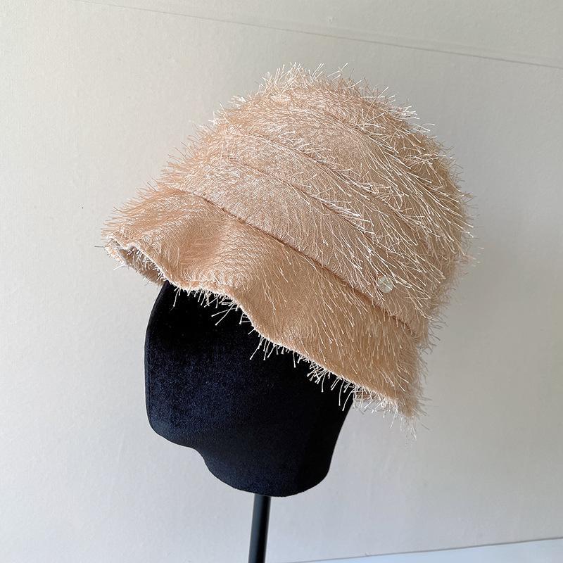 Корейский эстетизм, очень легкий и тонкий ~ темперамент кисточкой лотос листьев красных маленьких карманов рыбака шляпа рыбака женское лето дышащее навес