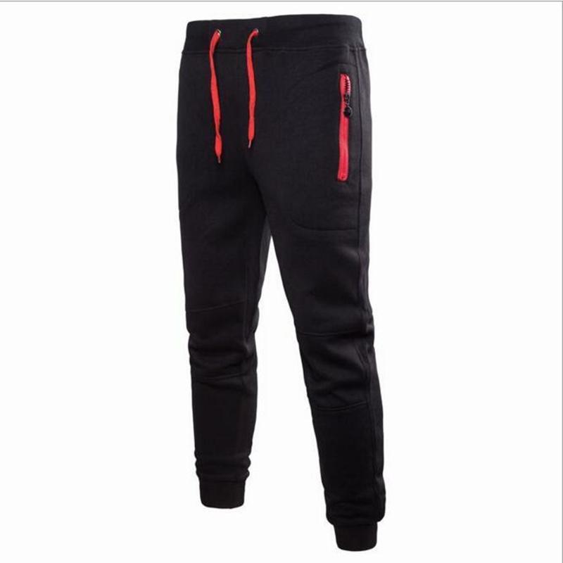 Erkek Pantolon 2021 Erkekler Joggers Erkek Pantolon Rahat Sweatpants Jogger Gri Elastik Pamuk Fitness Egzersiz