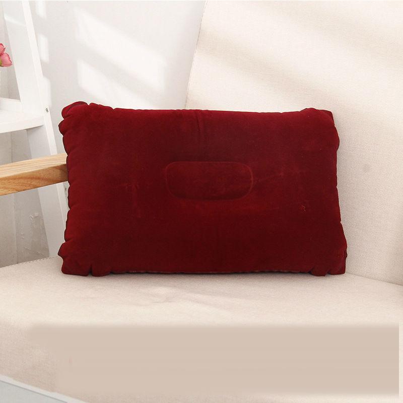 Açık Taşınabilir Katlanır Hava Şişme Yastık Çift Taraflı Akın Yastık Seyahat Uçak Otel için Uyku Yastıklar Otel 27 * 43 cm CCF6037