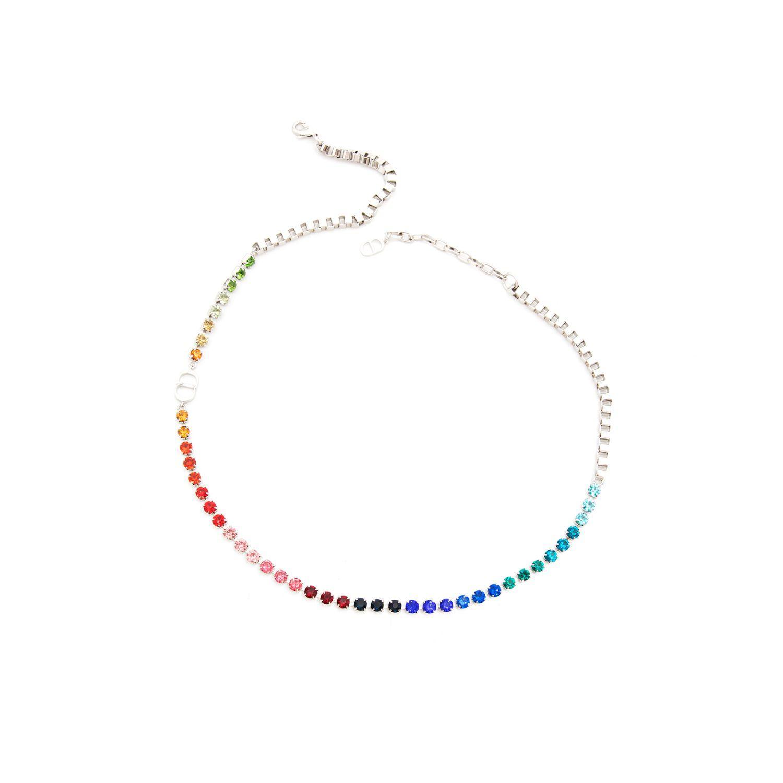 Mode bijoux CD Colliers pour hommes et femmes Chaîne Colorful Crystal Splicing Bracelet Festival Cadeau