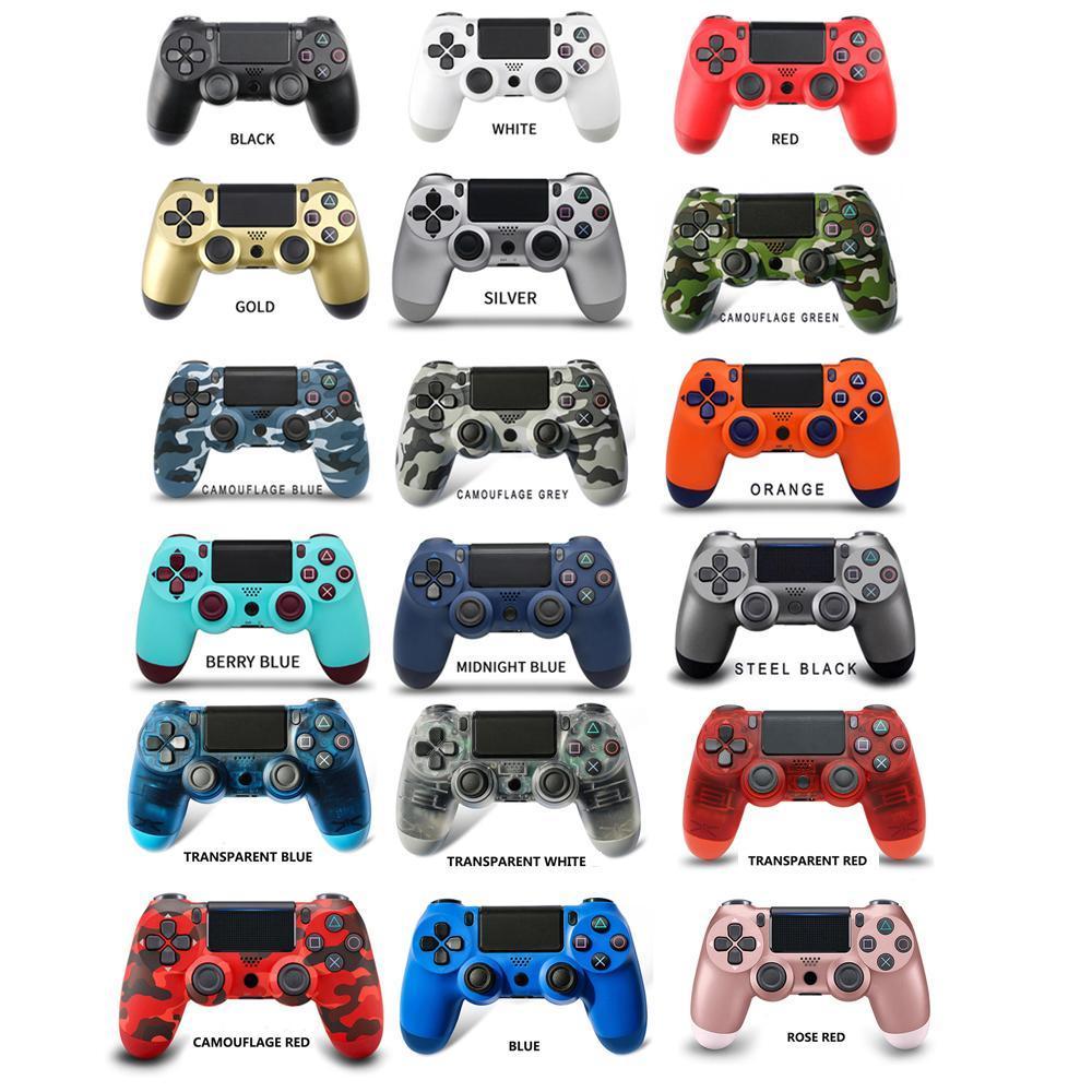 22 colores PS4 Controller Vibration Joystick Gamepad Controladores inalámbricos para la estación de reproducción de Sony con la caja de paquetes minoristas
