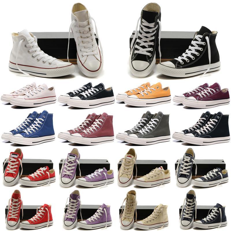 1970er Jahre Casual White Shoes All Größe 35-44 Sportstars Low High Classic Canvas 1970 Schuh Männer Turnschuhe Herren Damen Sneaker Stern Chuck 70 Chucks Platform