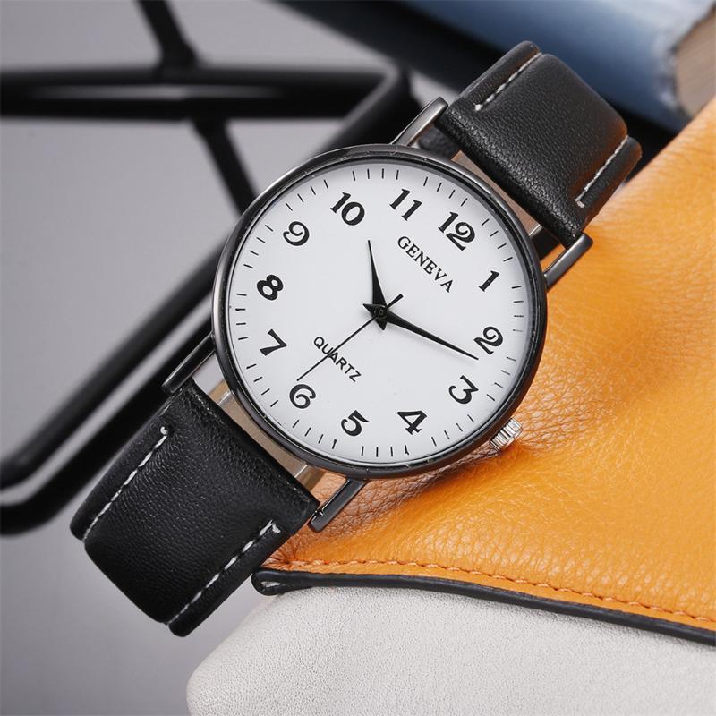 ساعات المعصم قطرة أزياء المرأة ووتش الفاخرة حزام جلد جنيف السيدات بسيط الكوارتز ساعات المعصم ساعة هدية #W