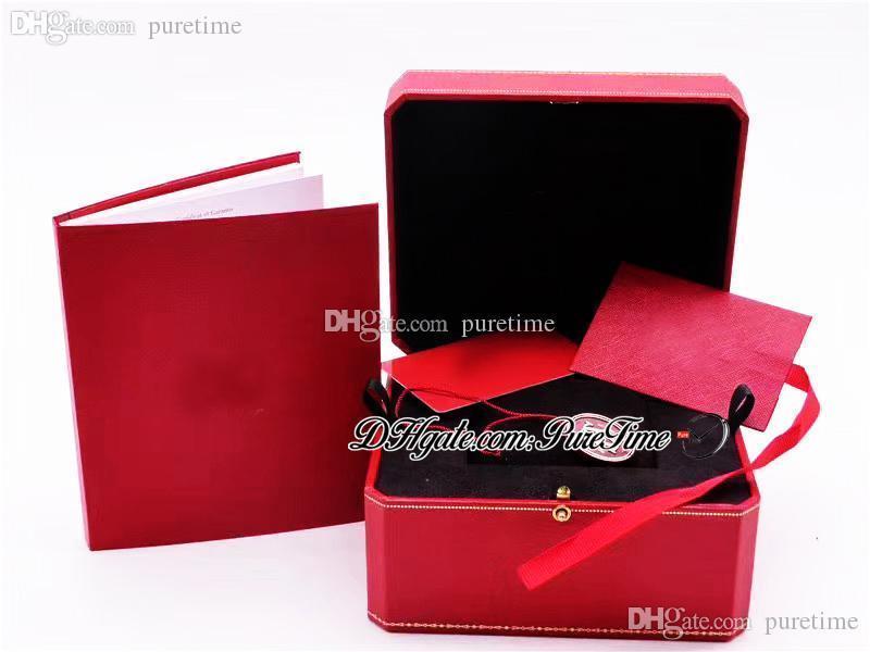 2021 BLEU İzle Kutuları Komple Set Komple Kitapçık Kağıt Garanti Kartı Kırmızı Çanta Süper Sürüm Aksesuarları Içinde Siyah Flanel Kutusu Puretime Soğuk 2