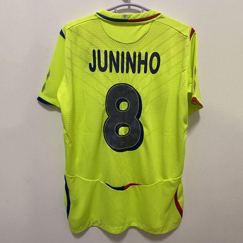 Retro Lyon 2008/09 Futebol Jerseys Benzema Juninho Ederson Pjanic Vintage Futbol Kit Camisa de Futebol Clássico