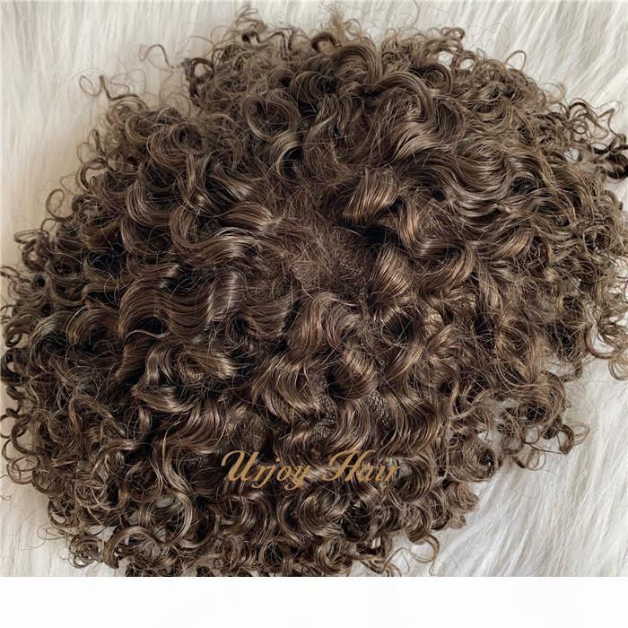 Männer Haareinheit PU mit Spitzenbasis komfortabel 6 * 8 indische haare freie stil natürliche hairline unsichtbare benutzerdefinierte toupee für schwarze männer