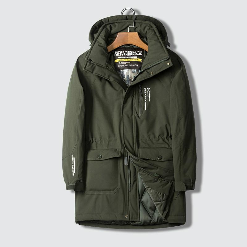 남자 재킷 후드가 큰 크기 8xl 따뜻한 코트 중간 긴 윈드 브레이커 남성 가을 두꺼운 cotton-padd thermal parka men parkas