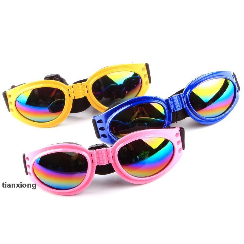 Jh 5 pcs / lote Puxe vento moda cães animais de estimação acessórios dobráveis óculos de cachorro óculos de sol e óculos de sol Óculos de sol