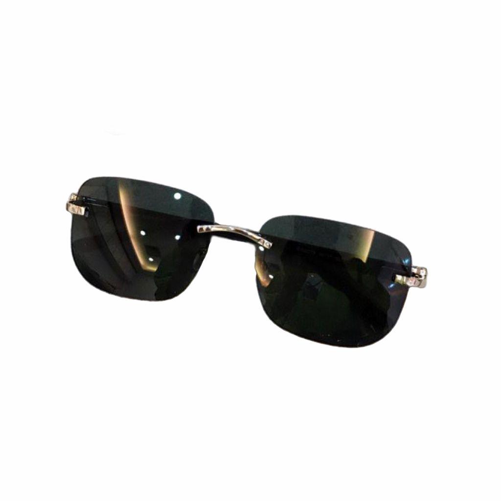 Sunglasses For Men and Women Summer style Anti-Ultraviolet Retro 0227 Plate Metal Square Frameless fashion Eyeglasses Random Box
