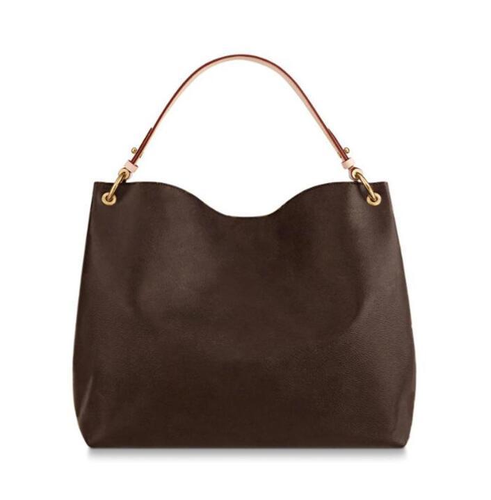 Anmutige Tasche 43704 mm Hobo Klassische Handtasche Leder Handtaschen Mode Frauen Einzelne Griff Tote Einkaufstaschen 39x12x34cm