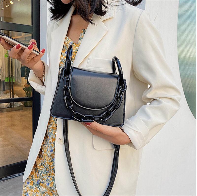 PB0013 패션 여성 체인 핸드백 PU 가죽 단일 어깨 가방 메신저 가방 검정색 흰색 노란색 녹색 보라색 5 색