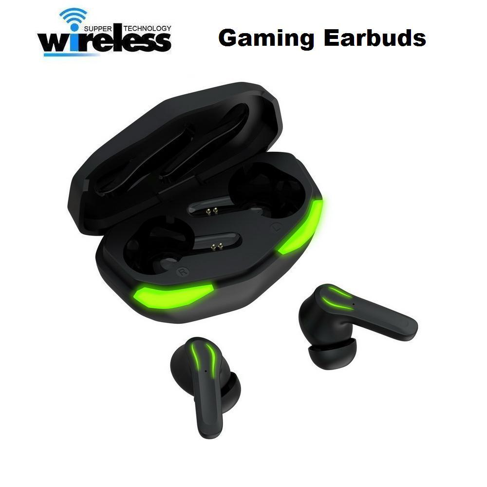 New Gaming Earbuds Twins Wireless Bluetooth 5.0 Stereo Cell Phone Earphones HD Speaker Comfortable Fit Headset Long Duration Headphones For Smartphones, Pad & Laptop
