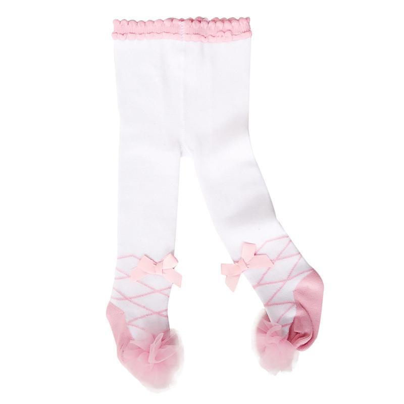 Lovely Spring Baby Tights Algodón Lindo encaje arcos Ropa de niña Invierno Nacido 0-24m Girls Pantyhose Menina Collant Leggings
