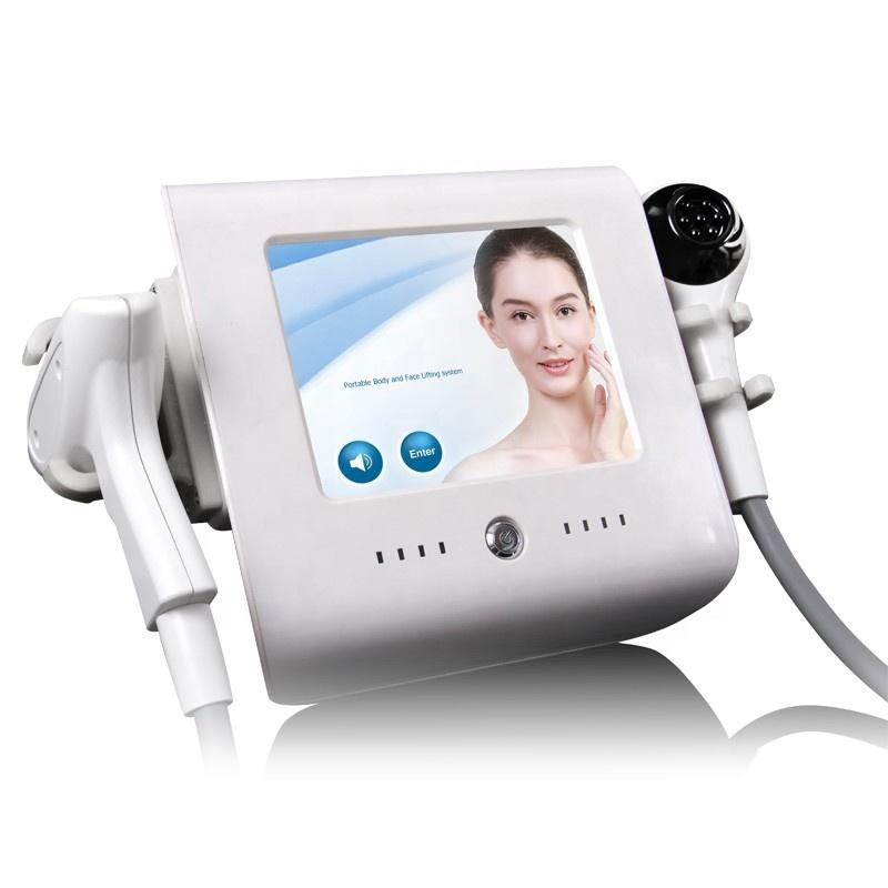 المحمولة الكسرية الحرارية rf فراغ 2 في 1 تشديد الجلد آلة رفع الوجه آلة إزالة التجاعيد الوجه تجديد الراديو تردد مكافحة الشيخوخة معدات التجميل