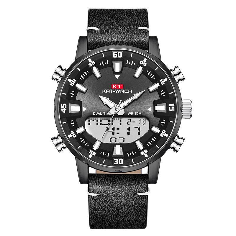 스테인레스 스틸 스포츠 크로노 그래프 쿼츠 시계 남자 relogio masculino 검은 손목 시계와 함께 탑 패션 망 시계