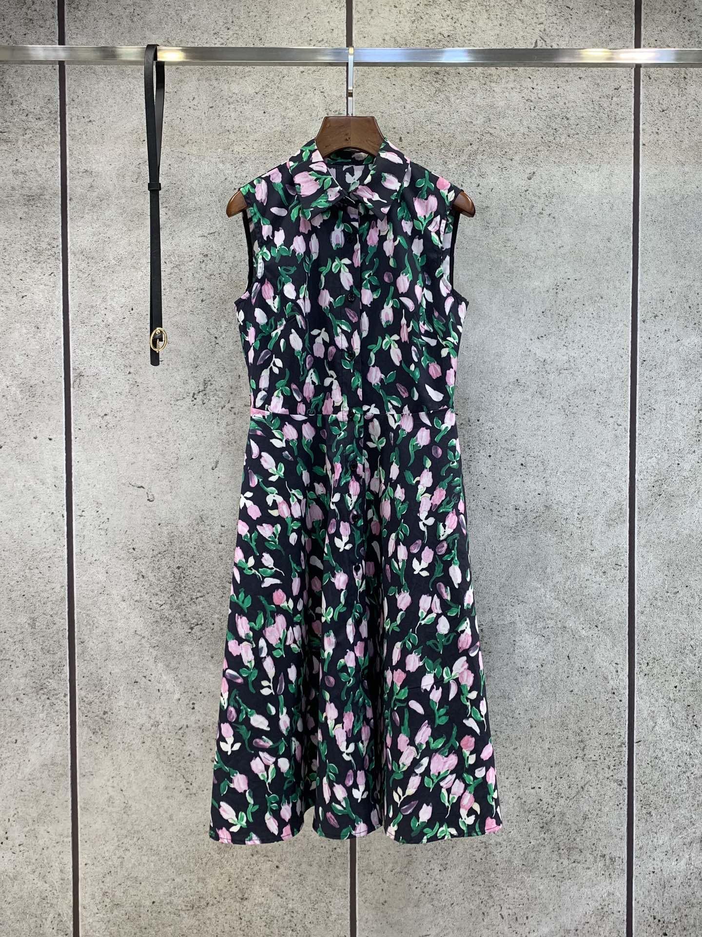 Milan pist elbiseler 2021 yaz yaka boyun baskı panelli kadın tasarımcı elbise markası aynı stil etekler 0330-9