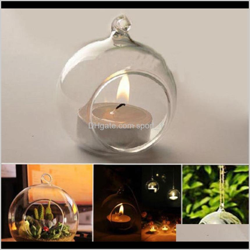 Holders Décor & Garden Drop Delivery 2021 Hanging Candle Holder Candlestick Home Wedding Party Dinner Decor Round Glass Air Plant Bubble Crys