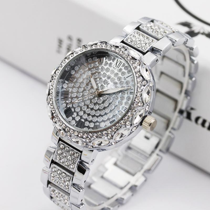 Frauen Uhren Frauen Goldene Uhr Für Dame Luxus Designer Marke Kristall Diamant Armband Quarz Armbanduhr Relogio Feminino Armbanduhren