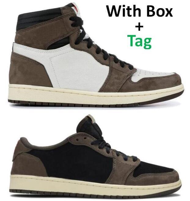 Migliore Qualità 1 Alta OG TS Cactus Jack Suede 3m Scarpe da basket da uomo Donne 1s Ts Sneakers sportive con scatola